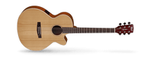 CORT SXF1F Natural Satin Small Body Cutaway Acoustic /Electric Guitar in DELUXE GIG BAG