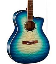CORT GA-GF Quilted Top Grand Regal Acoustic/Electric Guitar