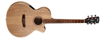 CORT SFX-AB Ash Burl Small Body Acoustic/Electric Guitar