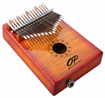 Kalimba with On Board Pre Amp in Carry Bag - SUNBURST KURLY MAPLE OR NATURAL KOA