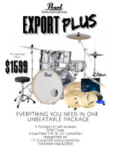 Pearl Export 22 FUSION Plus Drum Pack with Thone and Cymbal Pack - ORDER NOW