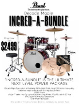 Pearl Decade Maple Incred-a-bundle FUSION PLUS Pack with Cymbals and Throne - ORDER NOW