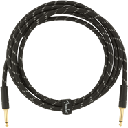 Fender Custom Shop Instrument Cable - 10ft Braided - Tweed or Black - Straight or Right Angled