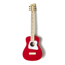 Loog Pro Acoustic Guitar VI and Flash Card Package - Great for Kids - Red/White/Yellow/Green/Black/Pink