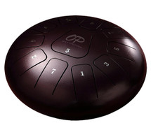 "OPUS 12"" Tongue Drum ""Chestnut Violet"" or ""Black"" - Metal 11 Note with Carry Bag and Mallets"