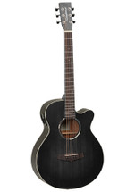"Tanglewood ""BLACKBIRD SERIES"" Super Folk Cutaway Acoustic/Electric Guitar - Smokestack Black Satin"
