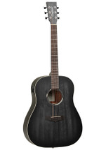 "Tanglewood ""BLACKBIRD SERIES"" Dreadnought Acoustic/Electric Guitar - Smokestack Black Satin"