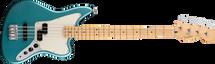 Fender Player Series JAGUAR Bass Guitar - Tidepool Blue/Silver/Capri Orange