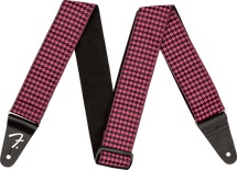 "Fender ""Houndstooth"" Strap - Pink/White/Teal/Red"