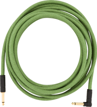 Fender 18.6 ft PURE HEMP Instrument Cable - Green/Natural/Brown Stripe