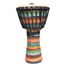 "Drumfire 10"" Rope Djembe Multicoloured with Carry Bag"
