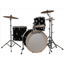 "Ludwig Element Series 4 piece ""ICON"" Kit/Hardware/Throne in Black Sparkle with Zildjian Cymbal Pack and Extra 14"" Crash"