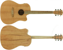 Cole Clark Made in Australia Fat Lady 1EC - Silky Oak Top, Back and Sides