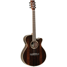 Tanglewood Discovery Exotic Satin Ebony SuperFolk Acoustic/Electric Guitar