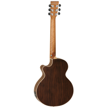 Tanglewood Discovery Exotic Traveller Super Folk TRAVELLER Acoustic/Electric Guitar - BLACK WALNUT