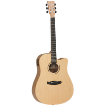 Tanglewood Discovery Exotic Dreadnought Acoustic/Electric with Hawaiian Rainwood Back