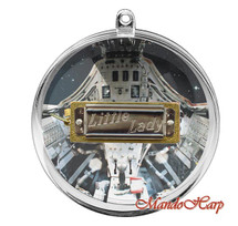"Hohner 50th Year Space Anniversary Collectable ""Little Lady"" Harmonica in Christmas Bauble with Rope Chain"