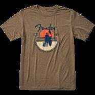Fender Sunset Spirit Olive T Shirt