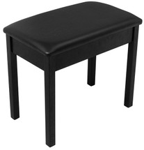 On Stage Keyboard/Piano Bench in Solid Wood & Vinyl in Black