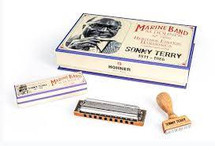 HOHNER SONNY TERRY SIGNATURE HARMONICA, HERITAGE EDITION MARINE BAND, DIATONIC C