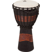 "TOCA 10"" Black/ Brown Wooden Djembe"