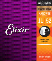 ELIXIR Polyweb Phos Bronze Acoustic Guitar Strings - Long Life
