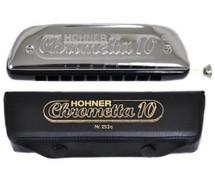 Hohner 253/40/C Chromatic Harmonica - Chrometta 10