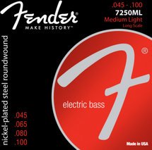 Fender 4 String Bass Strings - NPS Nickel Plated Steel