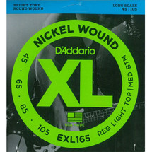 Daddario Nickel Wound Bass Strings - 4 String XL