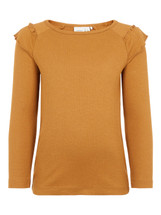 Birie Amber Gold Slim Long Sleeve Top