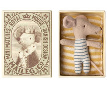 Baby Boy Mouse In Box From Maileg