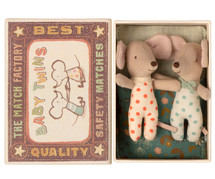 Baby Mice Twins in  Box From Maileg