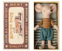 Big Brother Mouse In Stripe Top In A Box From Maileg