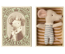 Baby Boy Mouse Sleepy/Wakey In Box From Maileg