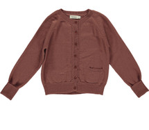 Tillie Dark Brick knit Cardigan From Mar Mar Copenhagen
