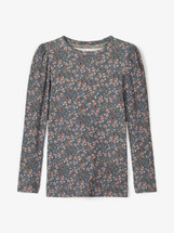 Fomelia Floral Slim Fit Long Sleeve Top