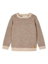 Roger Beige  Long Sleeve knit From Lil' Atelier
