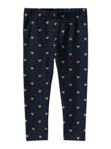 Vivian Navy Heart Glittery Leggings