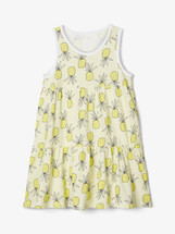 Vigga  Yellow Pineapple Printed Spencer Dress