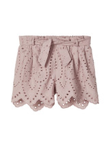 Denisa Pink Broderie Anglaise Shorts