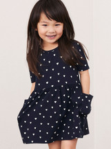 Dagmar Navy Cotton Dress