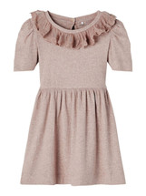 Felly Lace Collar Rib Dress