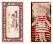 Big Sister  Mouse in Stripe Dress From Maileg