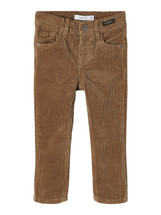 Silas Stone Gray Slim Fit Cord Trousers