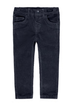 Silas Navy Slim Fit Cord Trousers
