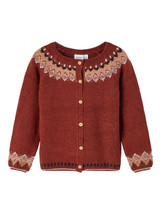 Foline Red Long Sleeve Knitted Cardigan