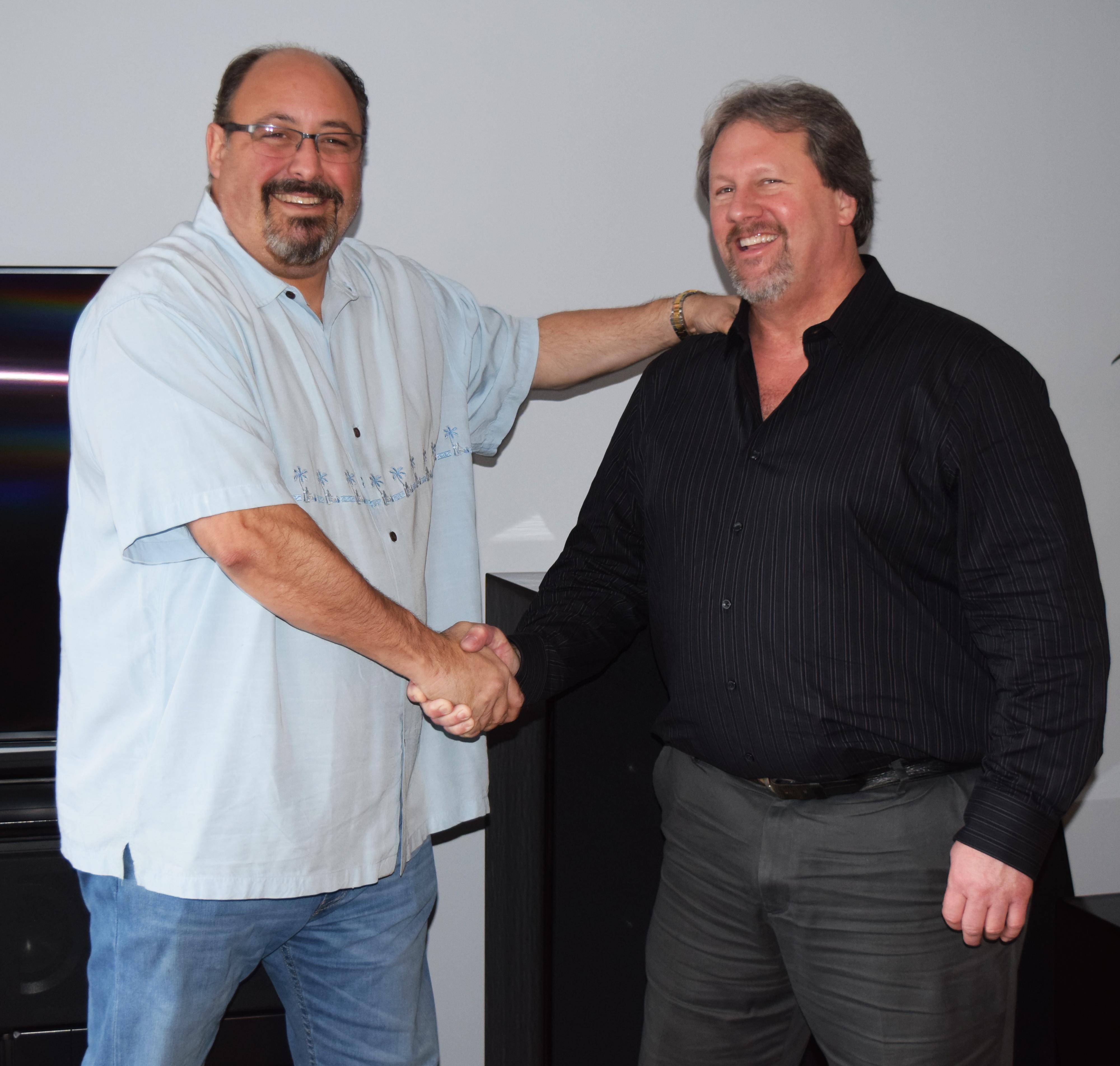 Bill Nicholson of Paradigm with Audiolab President David Levitan