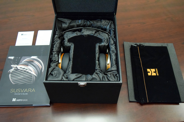 HiFiMAN Susvara headphones in open case