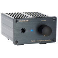 Music Hall ha11.1 High Quality Headphone Amplifier in Black