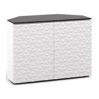 Salamander Milan 323 Corner Double-Width AV Cabinet in White / Black Glass